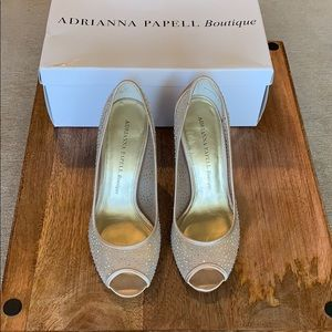 Adrianna Papell Fionna Mesh Heel - Wedding Shoes